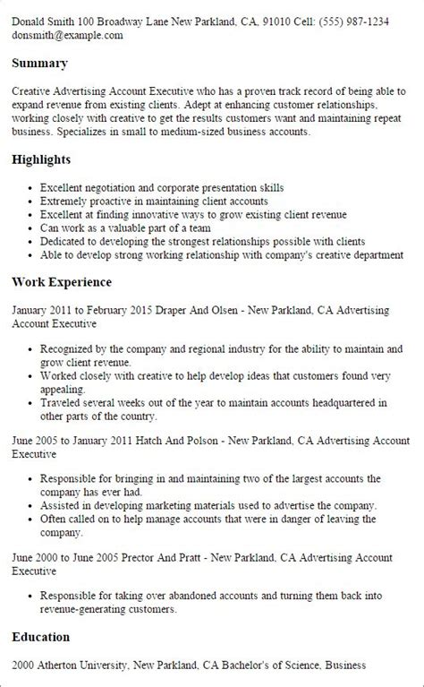 Account Executive Resume by Best 25 Executive Resume Template Ideas On