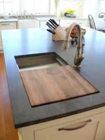 kitchen island with cutting board prep sink on island with a built in cutting board this is genius house