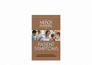 Textbook   The Merck Manual Of Patient Symptoms A Concise