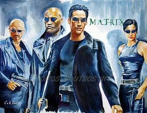 The Matrix (1999) movie poster painting | Spiros Soutsos art