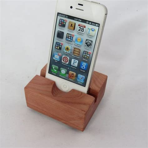 wooden iphone station wood iphone station stand eastern cedar by