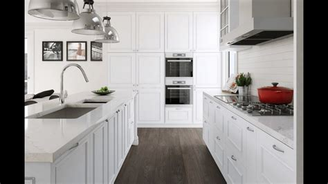 white kitchen cabinets  countertops youtube