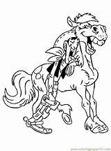 Lucky Luke Cartoon Coloring Mascot Cowboy Drunk Horse Character Printable Sheets Cartoons Visit sketch template