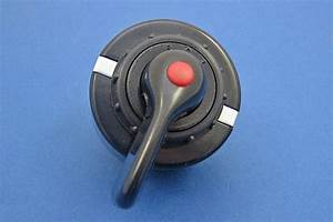 Rotary Switch Black Plastic Lever And Integral Red