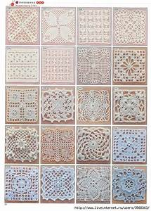 Lots Of Free Crochet Squares  Motifs  Diagram Patterns  Great For Making A Afghan  Table Cloth