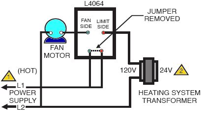How Install Wire The Fan Limit Controls Furnaces