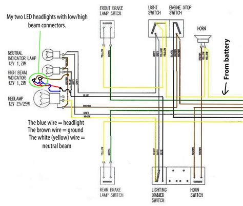 Ducati Led Light Wiring Diagram by Led Motorcycle Headlight 10 Steps With Pictures