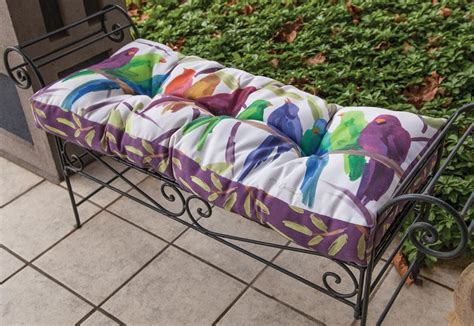 patio cushions clearance flocked together songbirds indoor outdoor bench cushion