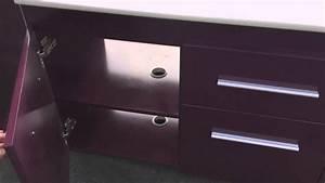 meuble double vasques think laque violet avec 2 colonnes With meuble avec 2 vasques