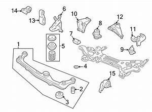 Volkswagen Cabrio Manual Transmission Mount Bracket  Front