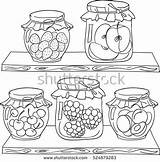 Jam Pantry Coloring Fruit Doodle Hand Pages Draw Drawing Dreamstime Shelf Drawn Foods Wood источник Shutterstock French sketch template