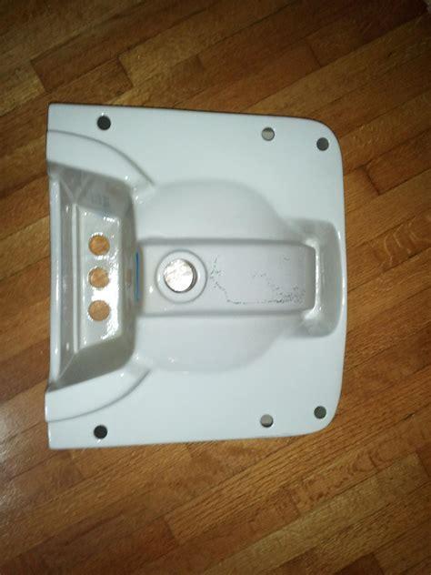 plumbing    install  wall mount bathroom sink