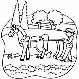 Plow Coloring Horse Plowing Horsedrawn Pages Colouring Farm Tractor Template Sketch Printable Freeprintablecoloringpages Colori sketch template