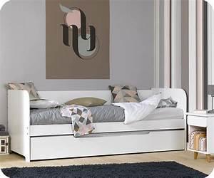 pack lit gigogne bali blanc 80x200 cm avec 2 matelas With tapis persan avec housse pour canapé lit gigogne