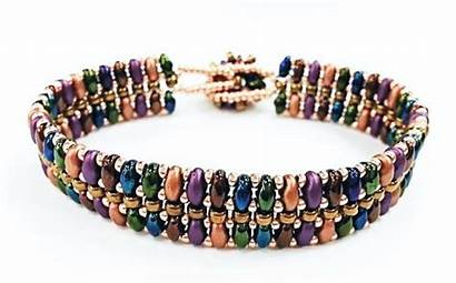 Bracelet Superduo Kit Flat Multi Beadwork Decide