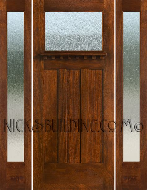 craftsman style doors craftsman style doors and sidelights