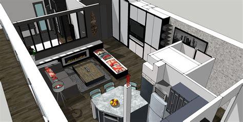 cuisine ouverte sur salon 30m2 9 plan salon cuisine