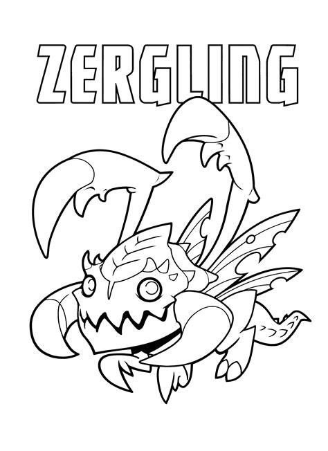starcraft  video games printable coloring pages
