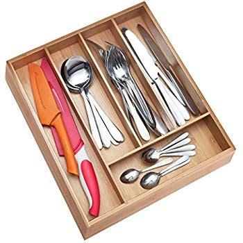kitchen drawer organizer wood drawer organizer this durable wood cutlery 4724