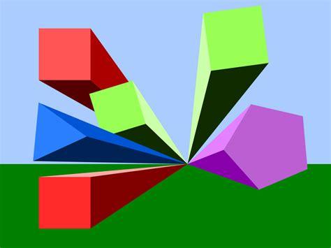 Abstract Cool Shapes by 3d Shapes Wallpaper Wallpapersafari