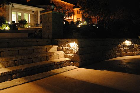 retaining wall and patio wall with stairs and accent