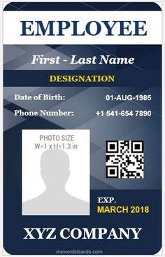 ms word id card templates images id card