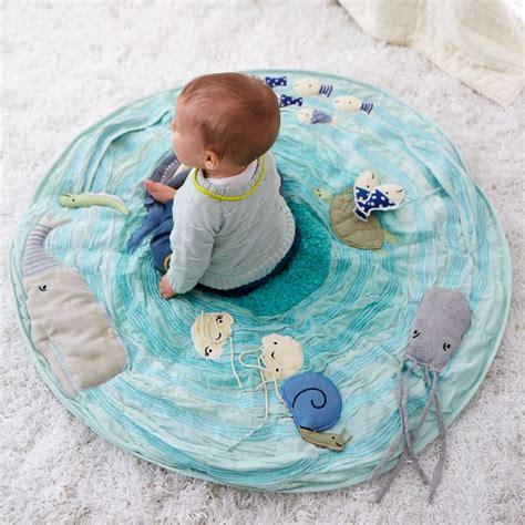 baby floor mat be on the sea activity floor mat the land of nod