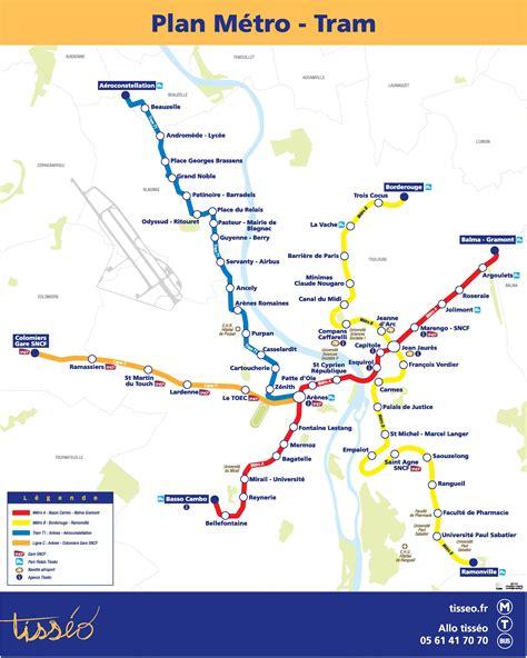 Carte Metro Pdf by Plan M 233 Tro Toulouse Pdf