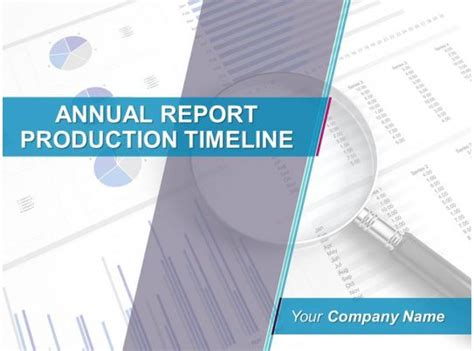 annual report production timeline powerpoint