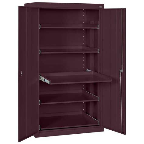steel storage cabinet sandusky 66 in h x 36 in w x 24 in d steel heavy duty