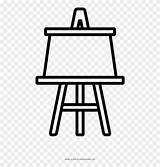 Easel Coloring Hospital Icon Clipart Line Pinclipart sketch template