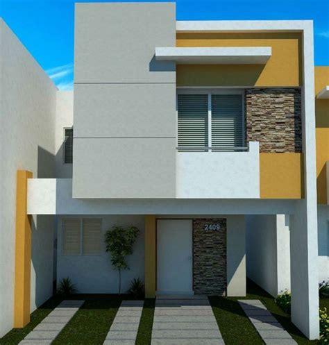 fachadas de casas de dos pisos sencillas como organizar