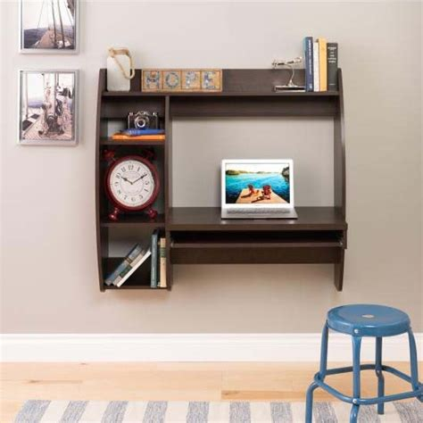 prepac wall mounted floating desk prepac floating wall mounted desk with storage and