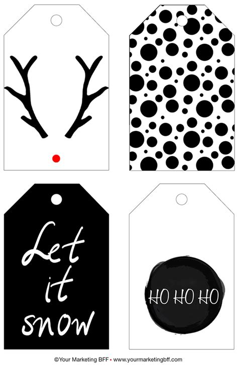 christmas tag black and white new calendar template site