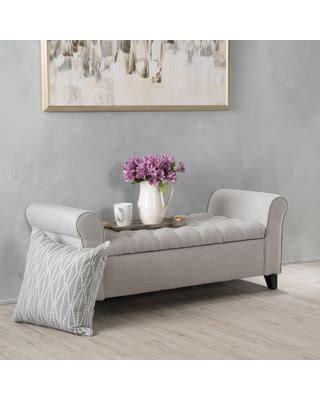 armed storage ottoman bench deals on keiko tufted fabric armed storage ottoman bench