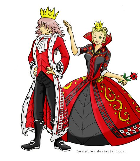 The queen of hearts is the third one done in the queens series. King and Queen of Hearts Color by Azure-Kire on DeviantArt