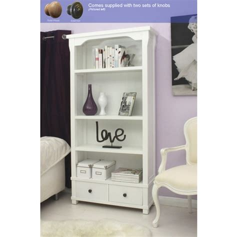 hampton white painted bookcase  drawers