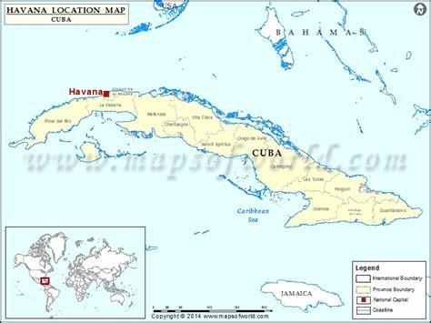 havana location  havana  cuba map