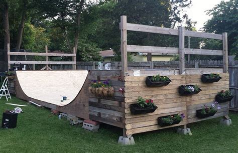 Building A Halfpipe In Your Backyard by Halfpipe Diy Planters Built By A Few Departikans Not So