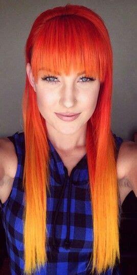 Long Fire Ombre Hair Hair Colors Ideas