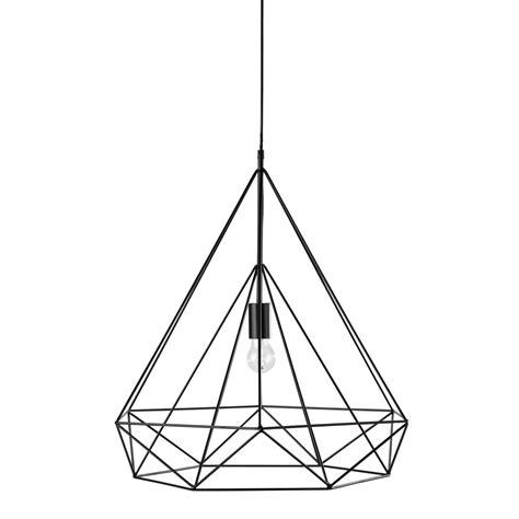 luminaire chambre suspension en métal noir d 60 cm iron maisons du monde