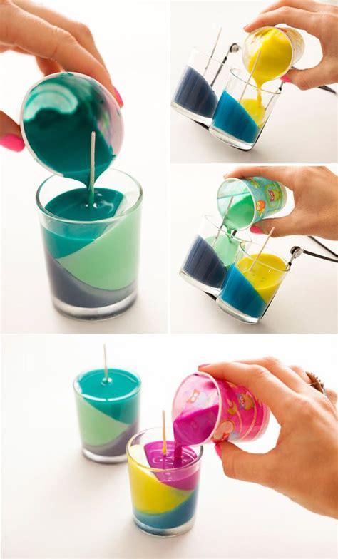 fabriquer des bougies color 233 es d 233 co diy fabriquer bougie bricolage et bricolage