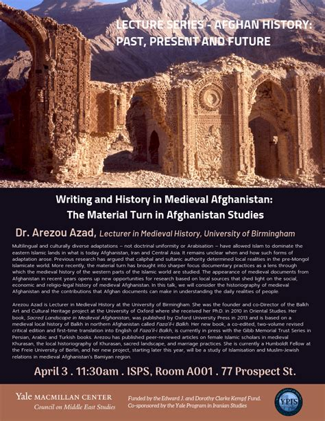 Afghan History Series: Writing and History in Medieval Afghanistan: The Material Turn in ...
