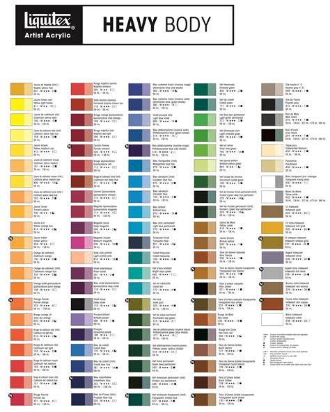 acrylic paint colors liquitex heavy color chart color stuff in 2019