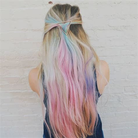 long flowing pastel rainbow hair pictures
