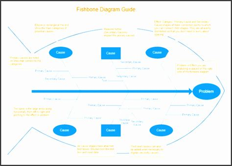 fishbone diagram template  ms powerpoint
