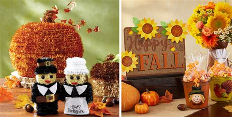 fall table decorations fall centerpieces confetti