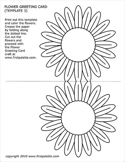 flower greeting card templates  printable templates coloring pages firstpalettecom
