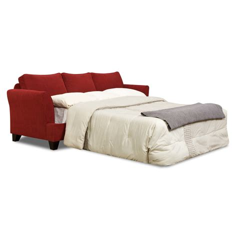 red sleeper sofa queen red leather loveseat sleeper davis red power motion