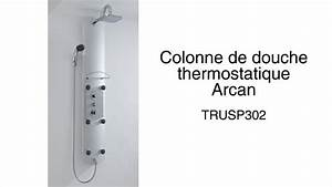 Colonne De Douche Carré : colonne de douche thermostatique arcan youtube ~ Edinachiropracticcenter.com Idées de Décoration
